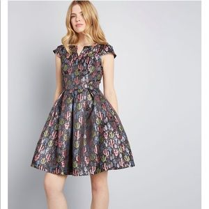 Modcloth Size 14 Cactus Dress with Pockets